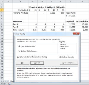 Use Solver in Excel