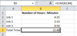 Adding Time in Excel