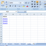 Automatically Create an Index for Your Excel File