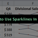 How to Use Excel Sparklines