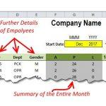 Managing attendance with Excel zoom's Attendance Template