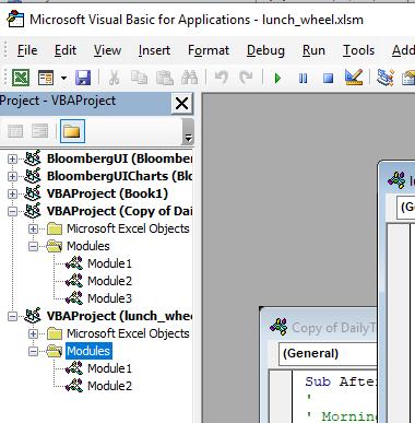 Excel VBA - Modules